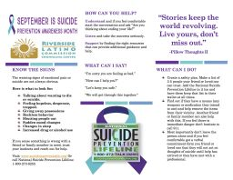 September is Prevention Suicide Awareness Month